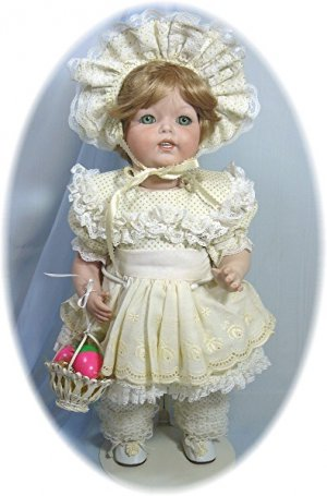 K*R (SIMON & HALBIG) 122 Reprduction All Porcelain Doll:  Lavish Spring Outfit
