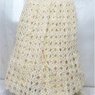 Candlelight Crochet Christening Dress, Very Small Doll: Dress/Slip/Panties/Cap, NIP