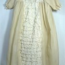 Absolutely Elegant Elaborate Christening Outfit for Large Doll: Dress/Slip/Panties/Bonnet
