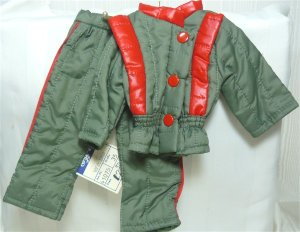 Stolle Actionwear Outfit for Male Doll:  NWT 2 Piece Quilted Cold Weather Gear for the Outdoors