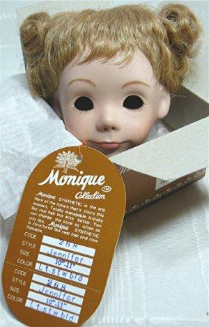 "Monique Doll Wig ""Jennifer"":  Sz 10-11, Light Strawberry Blonde, NIB"
