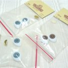 3 Sets of 18mm Tallina's Oval Doll Eyes:  2 Sets of Blue, 1 Set of Brown, NIP
