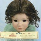 Tallina's Dark Brown Doll Wig, Sz 12, Center Part, Sweet Braids Across the Crown