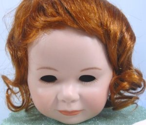 **Tallina Doll Wig in Carrot Red, Sz 15, NIP, Smooth w/Curls Around Face