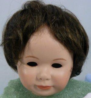Tallina's 359 Doll Wig: Dark Brown, Sz 14, Smooth Full Style
