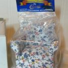 Pretty Print Upholstered Side Chair, 1:12, NIB, from Classic/International Miniatures