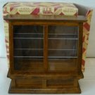 ***Wood Tone Display Case for Miniature Store or Shop, NIB, NOS