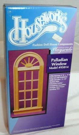 Houseworks Palladian Window NIB, Playscale 1:6 Size Component, NOS/NIB