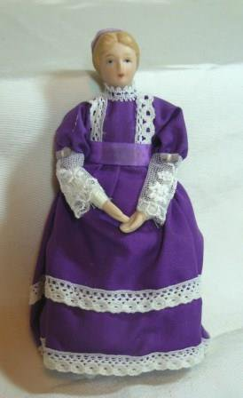 Miniature Old-fashioned Mother/Lady Doll, NOS