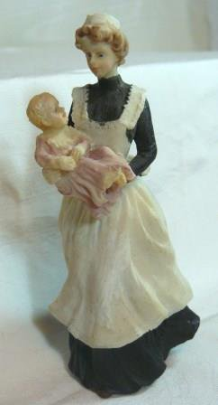 Porcelain Imports' Nurse with Baby, Sweet Figure, NOS