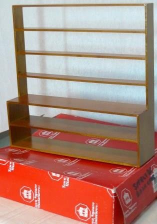 Town Square Miniatures Shelves or Bookcase; 1:12 Ready to Use