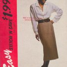 McCall's Sewing Pattern 6657 Handsome Skirt and Poet's Shirt Size 16 18 20