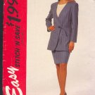 McCall's Sewing Pattern 7212 Suit, Unlined jacket and skirt, Size 10 thru 16