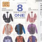 McCall's Sewing Pattern 7955 Man's Shirt, 8 Variations, Size 42 44