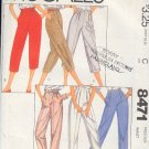 McCall's Sewing Pattern 8471 Pants, Six variations, Size 16