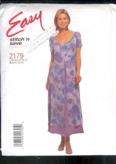 McCall's Sewing Pattern 2179  Pretty Dress Size 8-14