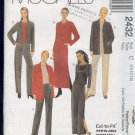McCall's Sewing Pattern 2432 Ensemble for stretch knits. Size 10 12 14