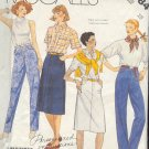 McCall's Sewing Pattern 2484 Jeans and Skirt Size 10