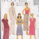 McCall's Sewing Pattern 2741 Blouse, Dress, Wrap skirt, pants, Size 10 12 14