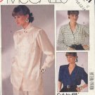 McCall's Sewing Pattern 2721 Three nice blouses Sizes 10 12 14