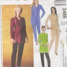 McCall's Sewing Pattern 3466 Petite Tunic/Jacket and Pants, Size 18 20 22