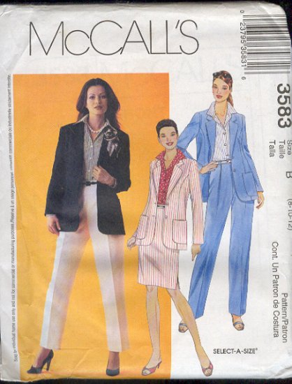 McCall's Sewing Pattern 3585 Skirt on Yoke, three variations, Size 4 - 10