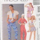 McCall's Sewing Pattern 3608 Pant, Short and Midriff top, Size 12 - 18