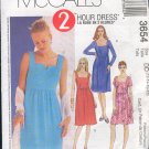 McCall's Sewing Pattern 3654 Dress, Empire waist, Size 4 - 10
