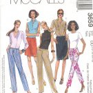 McCall's Sewing Pattern 3659 Skirt and Pants with variations, Size 12 - 18