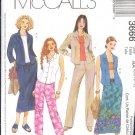 McCall's Sewing Pattern 3666 Shirt, Capri, Skirt and Pants, Size 14 - 20