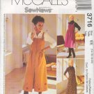 McCall's Sewing Pattern 3716 Petite Jumper in two lengths, Size 14 - 20
