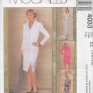 McCall's Sewing Pattern 4033 Petite Jacket Dress and Skirt, Size 14 - 20