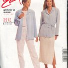 McCall's Sewing Pattern 3912 Pull On pant and skirt, top and jacket/cardigan.  Size 16 - 22