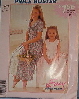 McCall's Sewing Pattern P274, Pretty Girl's dress and petticoat sizes 2 - 6
