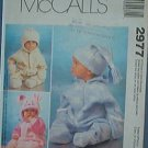 McCall's Sewing Pattern 2977 Infant Bunting and three cute hats, Size 13 - 24 lbs.