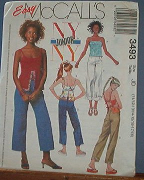 McCall's Sewing Pattern 3493 Jazzy Pants and top, Size 11 - 18