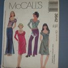 McCall's Sewing Pattern 3642 Dresses, Tops and low rise pant, size 12 14 16