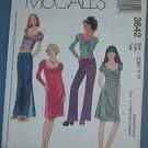 McCall's Sewing Pattern 3642 Girl's dresses, tops and low rise pant, 7 8 10
