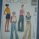 McCall's Sewing Pattern 3692 Top and drawstring pants and shorts, Size 7 8 10