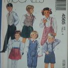 McCall's Sewing Pattern 4565 Child's Lined Vest, Pants, Knickers, Shorts, Skirt, Size 4