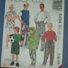 McCall's Sewing Pattern 5484 Stretch Knit Top, Pants and shorts for boys, size 4 5 6
