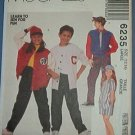 McCall's Sewing Pattern 6235 Jacket, Shorts, Pants, Shirt and Hat, Size 12 14