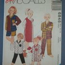 McCall's Sewing Pattern 6846 Child's Pajamas, nightgown, Size 12 14