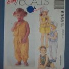 McCall's Sewing Pattern, Toddler Top, Pants and Shorts, Size 2 3 4