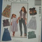McCall's Sewing Pattern 6998 Girl's Jumper and Vest, Size 5 6