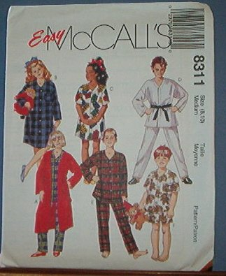 McCall's Sewing Pattern 8369 Boy's Stretch Knit T Shirt, Shirt, pull on pant, Size 10 12 14