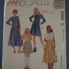 McCall's Sewing Pattern, Nifty Girl's Dress, Size 10 12 14