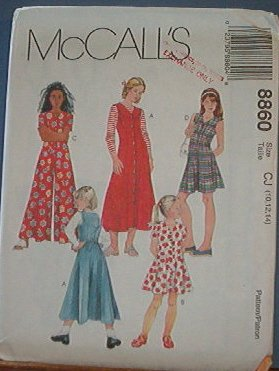 McCall's Sewing Pattern 8860 Dress and Jumpsuit in two lengths, Size 10 12 14