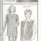 Stretch & Sew Sewing Pattern 4039 Decorated Vest, Bust size 30 - 46