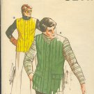 Kwik Sew Sewing Pattern 754 Man's Vest Sizes (chest) 34 - 46